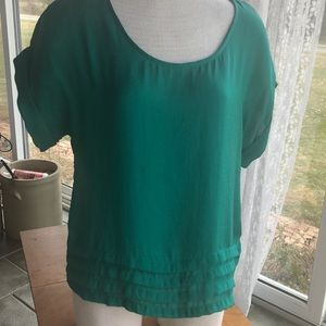 Mossimo green short sleeve blouse small